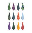 tie set business clothes for man wardrobe tie vector image vector image