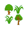 tree cartoon design graphic template vector image