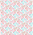 Triangle ethnic grunge seamless pattern vector image