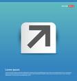 upper arrow icon - blue sticker button vector image