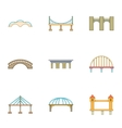 Urban construction icons set cartoon style vector image vector image