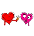 Valentine day Gift cartoon hearts vector image vector image