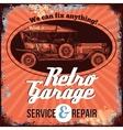 Vintage Car Service Design vector image vector image