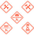 warning sign under construction logo vector image vector image