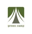 green camp logo vector image