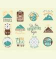 vintage typography travel motivation badge nature vector image
