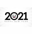 2021 happy new year emoji icon vector image