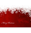Abstract background with snowflakes and Merry vector image vector image
