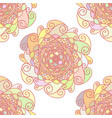 abstract pattern made of colorful mandalas vector image vector image