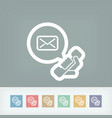 answering machine icon vector image