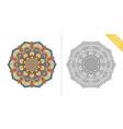 antistress coloring page mandala forth vector image vector image