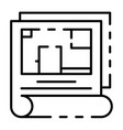 apartment plan icon outline style vector image