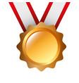 award medal ribbon winner sport vector image vector image