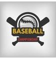 Baseball sports logo vector image vector image