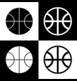 basketball ball sign black vector image vector image