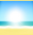 beach tropical sea with sun vector image vector image
