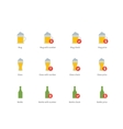 Beer colour icons on white background vector image vector image
