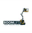 boom lift logo vector image vector image