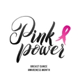 Breast Cancer Awareness Calligraphy Poster vector image vector image