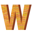 brick letter W vector image vector image