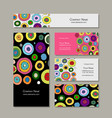business cards set abstract circles design vector image vector image