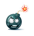 cartoon bomb fuse wick spark icon spite smiley vector image vector image