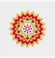 chinese flower with red and golden stripes vector image vector image