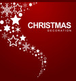 christmas decoration element snowflakes and stars vector image
