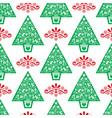 christmas tree seamless folk pattern vector image vector image