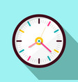 clock icon flat design on blue background vector image vector image