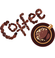 Coffee design cap and coffee bean vector image vector image