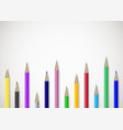 color pencils art banner poster with place for vector image vector image