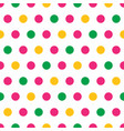 colorful rainbow polka dots on white background vector image