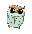 coloured owl line icon vector image vector image
