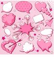 comics style valentine speech bubbles vector image vector image
