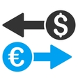 Currency Transfers Flat Icon vector image vector image