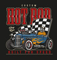 custom hot rod colorful label vector image vector image