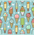 cute colorful ice cream seamless pattern vector image vector image