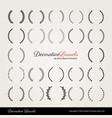 decorative laurels nice beard studios vector image