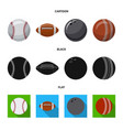 design of sport and ball logo set of sport vector image