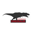 dinosaur logo concept diplodocus jurassic period vector image vector image