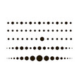 dotted circle line set dot black colored flat vector image