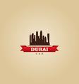 Dubai UAE city symbol silhouette vector image vector image