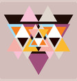 ector pattern with colorful geometric shapes vector image