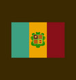 flat icons on theme flag of andorra vector image vector image