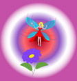 good fairy girl vector image vector image