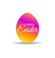 happy easter easter egg with colorful gradient on vector image