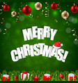 happy merry christmas postcard vector image
