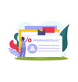 health insurance composition vector image