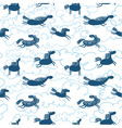 horses seamless pattern vector image vector image